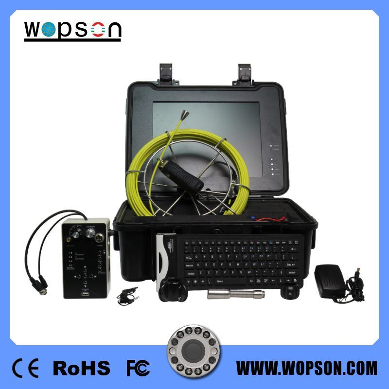 Professional Stainless Steel Digital Drain Camera with 15inch Monitor