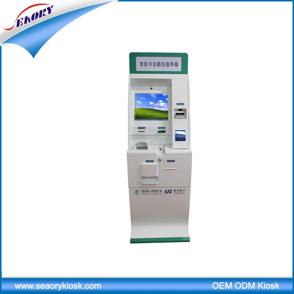 Free Standing Multifuntion Self-Service Kiosk with Cash Acceptor