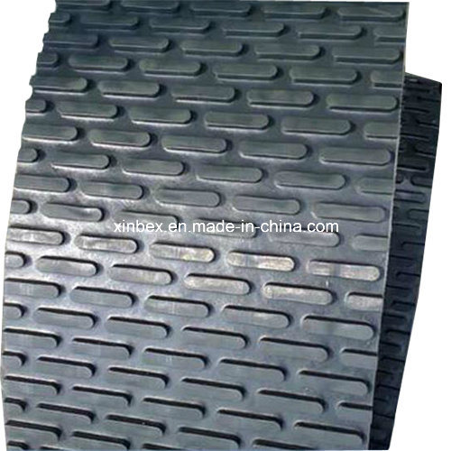 Black PVC Capsule Stud Patter Conveyor Belt for Stone/Polishing Machine