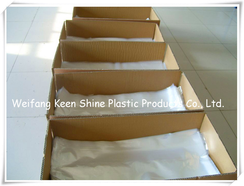 LDPE Open Ended Bags with Diagore Corner