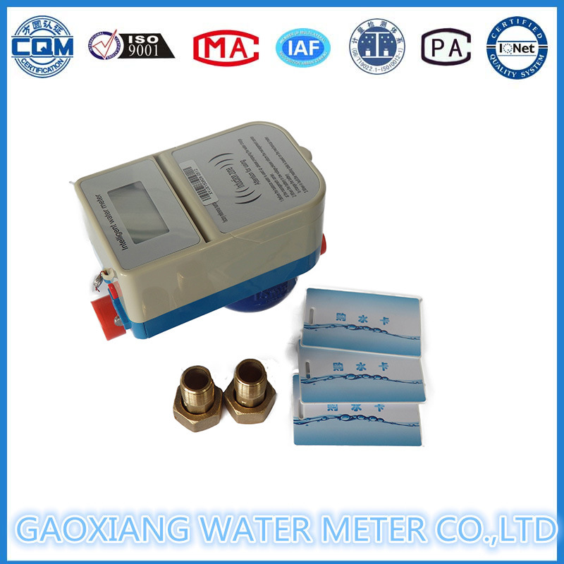 Prepaid Electric Water Meter with Contactless IC Card Dn15-Dn25