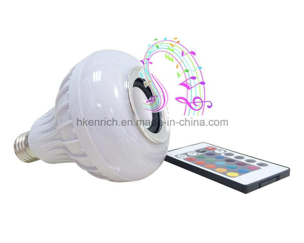 Indoor Light New Wireless Music Speaker with Bluetooth LED Bulb Work Night Table