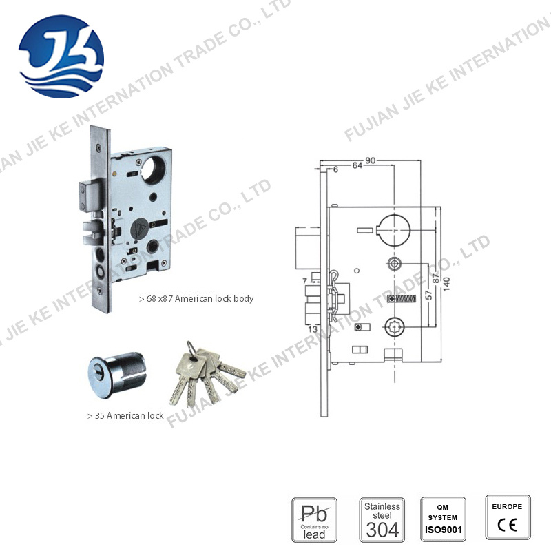 Stainless Steel Single Pull Door Lock for Villas (H-8701 Single)