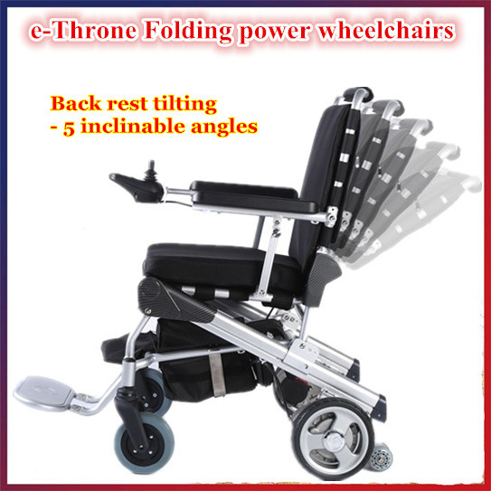 Portable Lightweight Brushless Folding Power Wheelchair with LiFePO4 Battery