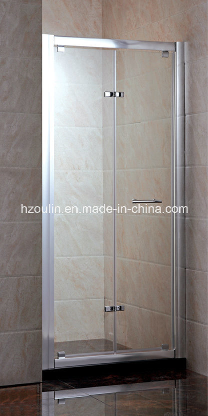 Bi-Fold Tempered Glass Shower Screen