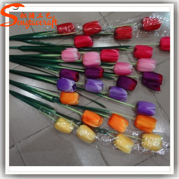 Guangzhou Supplier PU Artificial Real Touch Tulip Flower