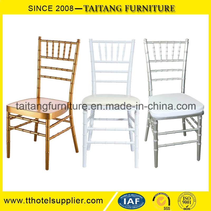 Stacking Metal Hotel Restaurant Banquet Wedding Tiffany Chiavari Chair