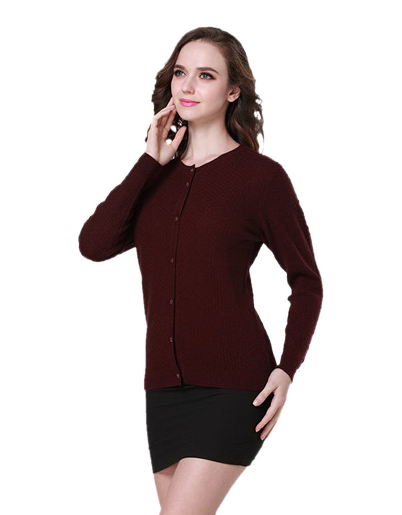 Ladies′ Cardigan Garment/Knitwear/Cashmere Clothing