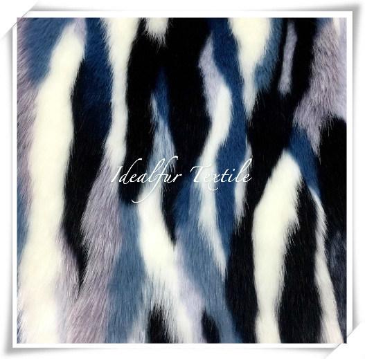 New Color Jacquard Fashion Faux Fur