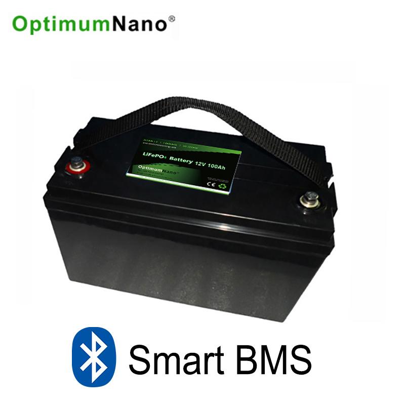 Bluetooth LiFePO4 12V 100ah Lithium Battery for Solar System