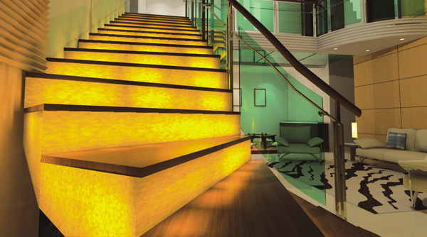 Translucent Artificial Marble for Stair