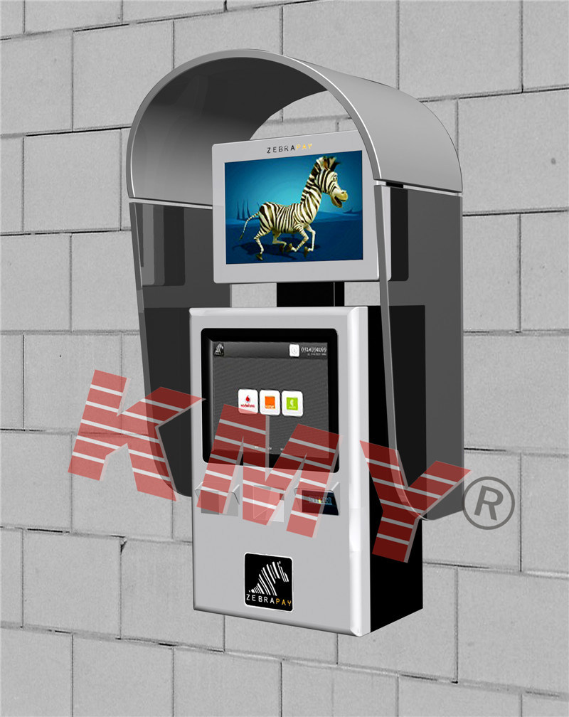 Wall Mounted Outdoor Kiosk Design with High Definition for Information Checking
