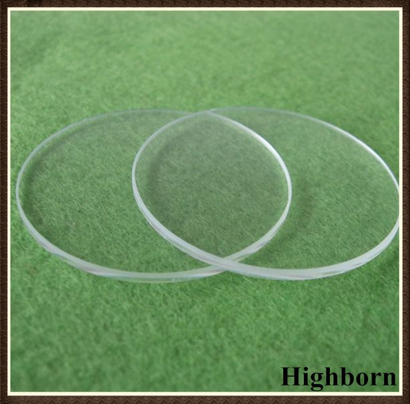 Clear Optical Circular Silica Quartz Glass Plate