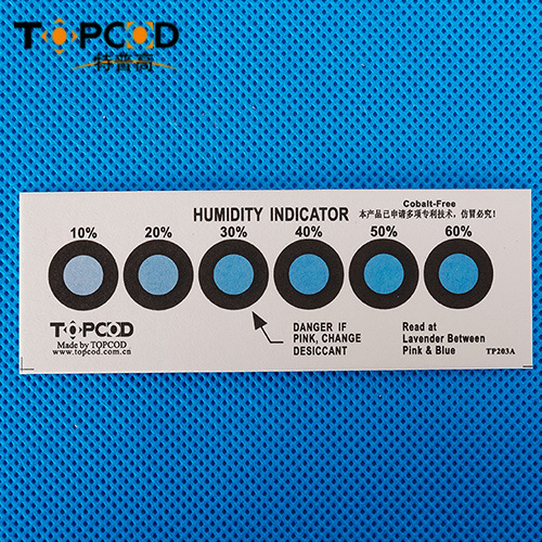 6 Dots Cobalt Dichloride and Halogen Free Hic Humidity Indicator Card
