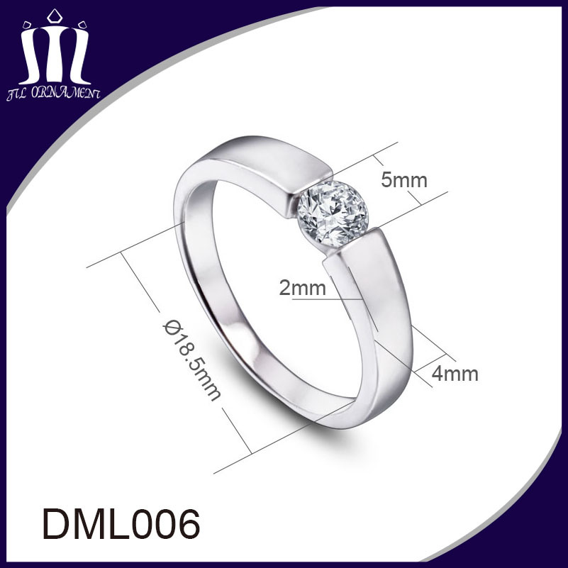 Imitation Jewelry Clip Stone Ring for Women