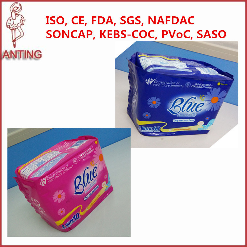 Wholesale Female Sanitary Pads Blue Sanitry Napkin