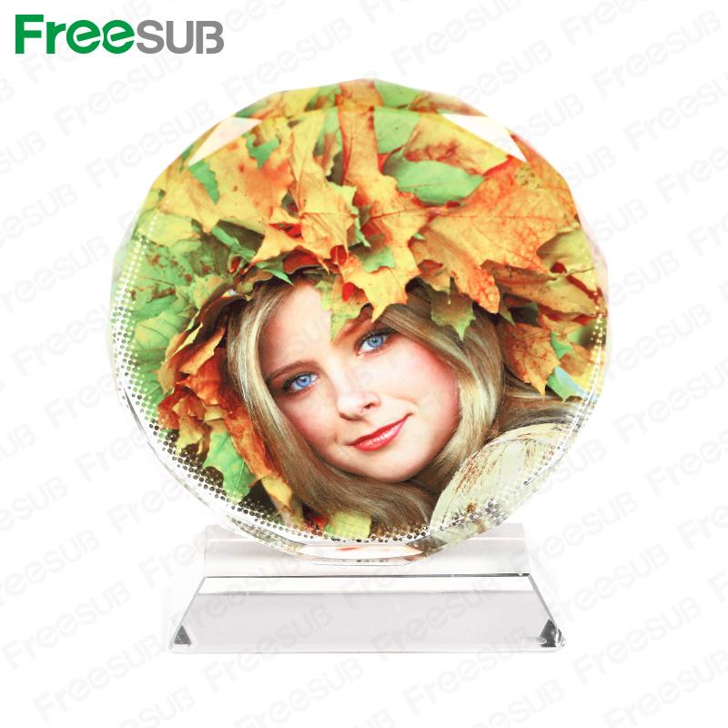 Freesub 100 Sunflower Sublimation Coated Crystal Photo Frame (BSJ-03B)