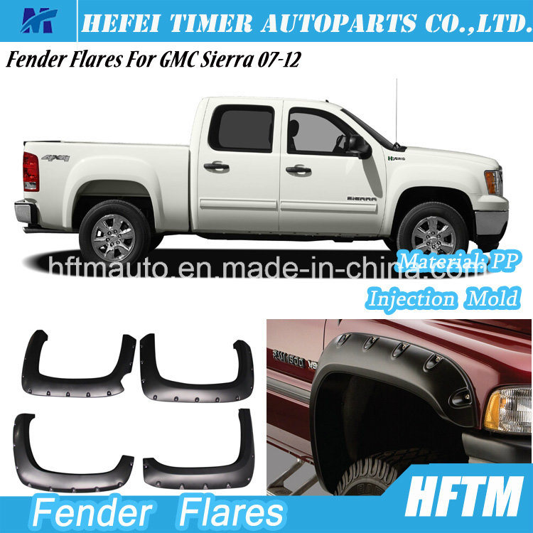 for Gmc Sierra 07-12 Injection Mold PP Material Fender Flares