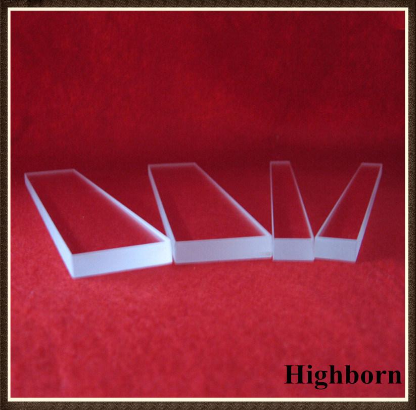 Clear Square Polished Silica Quartz Glass Plate