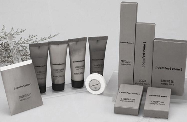 Hotel Amenity Set: Dentail Set, Shampoo, Body Wash, Lotion, Condition, Soap,