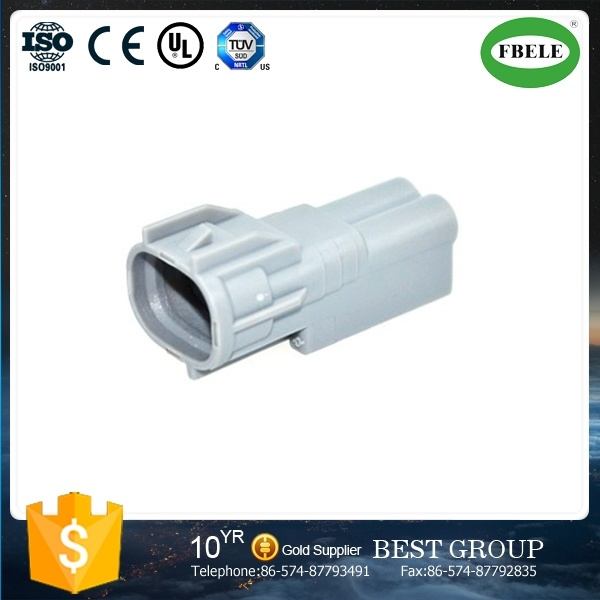 2 Pin Grey Automotive Car Connector Waterproof Male Connector