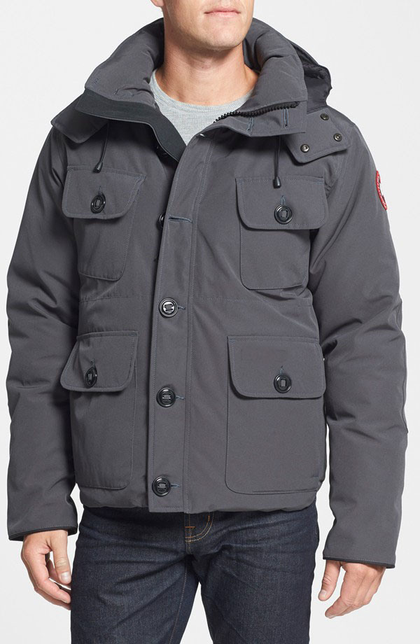 Slim Fit Water Resistant Men Down Parka with Detachable Hood
