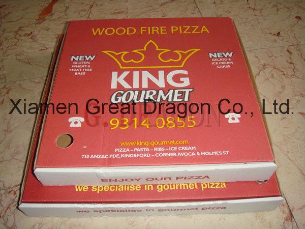 White Exterior and Natural/Kraft Interior Pizza Box (PIZZ001)