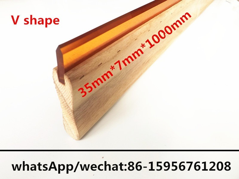 35mm*7mm*1000mm V Shaped Squeegee Scraper Blade for Screen Printing