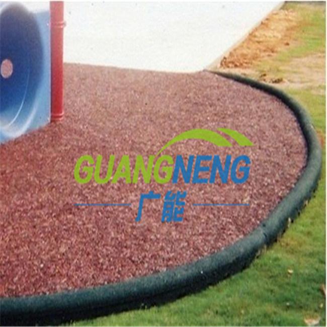 Eco-Friendly Rubber Border/Playground Rubber Tile Garden Rubber Boarder, Sports Rubber Tiles,