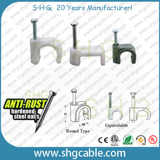 Anti-Rust Hardened Steel Nail Cable Clips