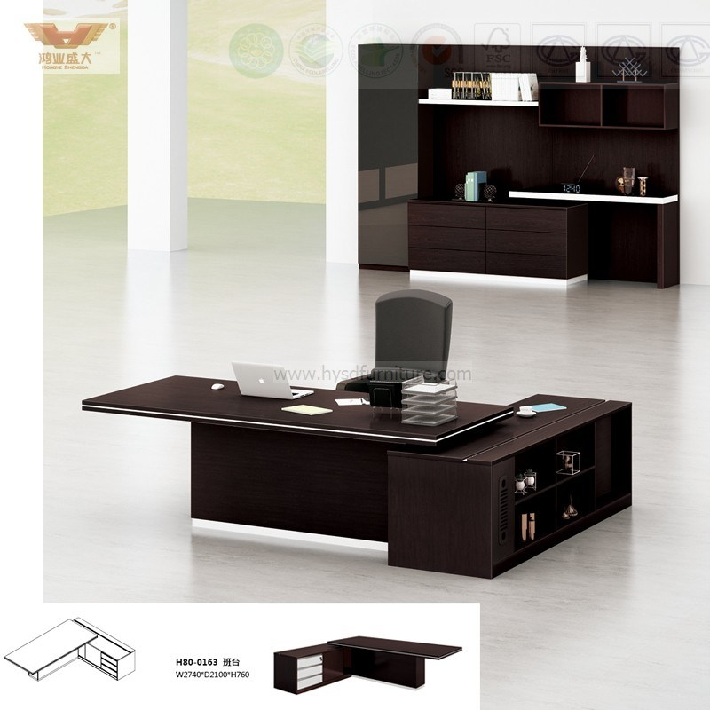 Hot Sale Office Executive Desk with Fsc Forest Certified Approved by SGS (Hy80-0161)