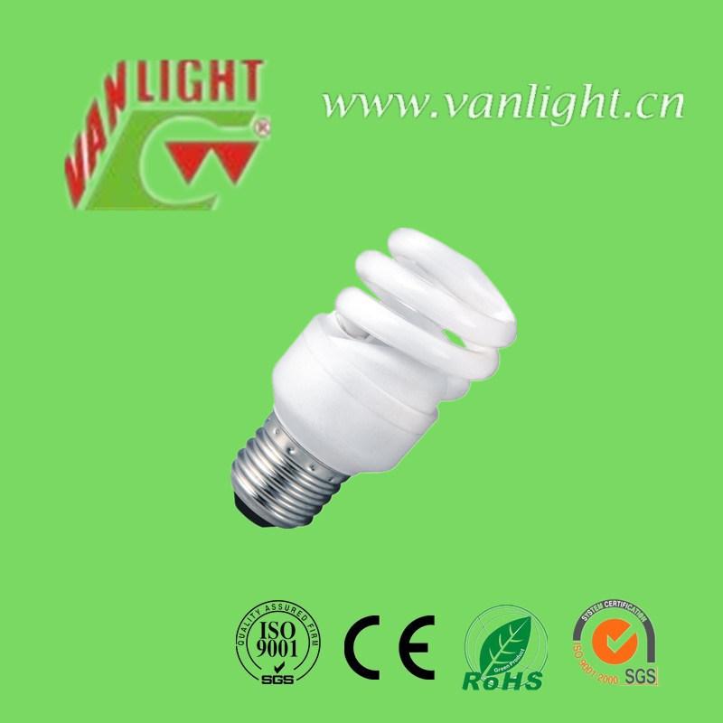 Full Spiral T2-9W E27 CFL Lamp Energy Saving Bulb