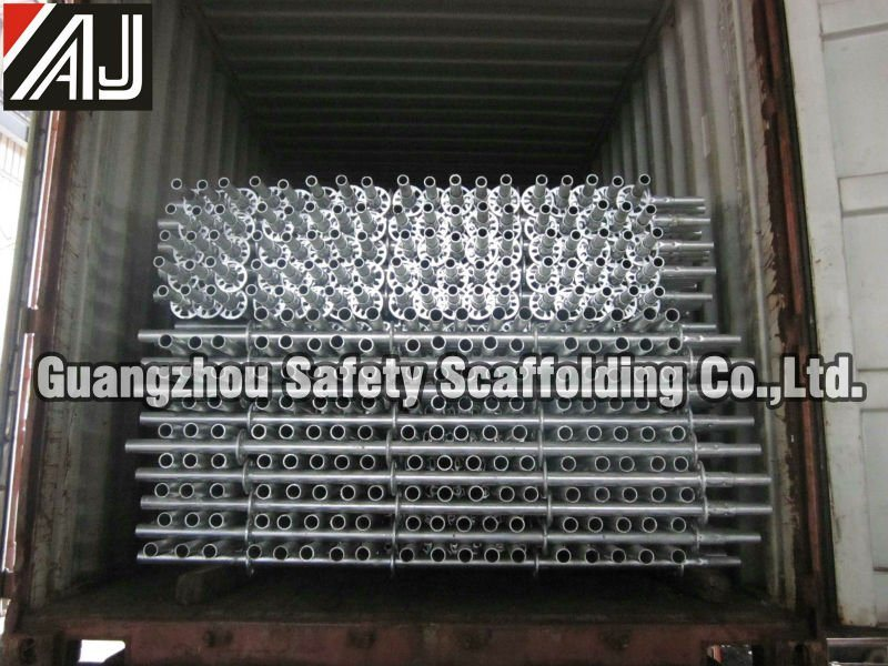 Guangzhou Manufacture Galvanized Steel Ringlock Scaffolding System for Building Construction Project