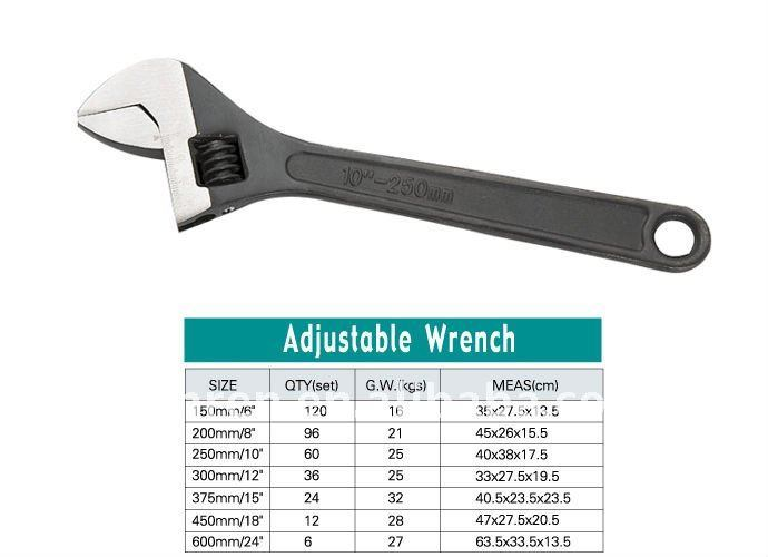 Adjustable Wrench, Plain Grip with Hanging Hole