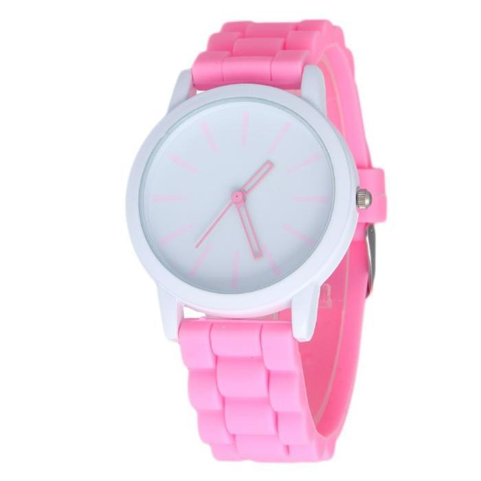Silicone Rubber Jelly Gel Sports Women′s Watch Luxury Brand