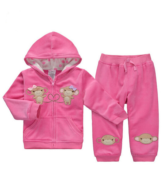 Cartoon Unisex Lovely Soft Cotton Warm Baby Suit