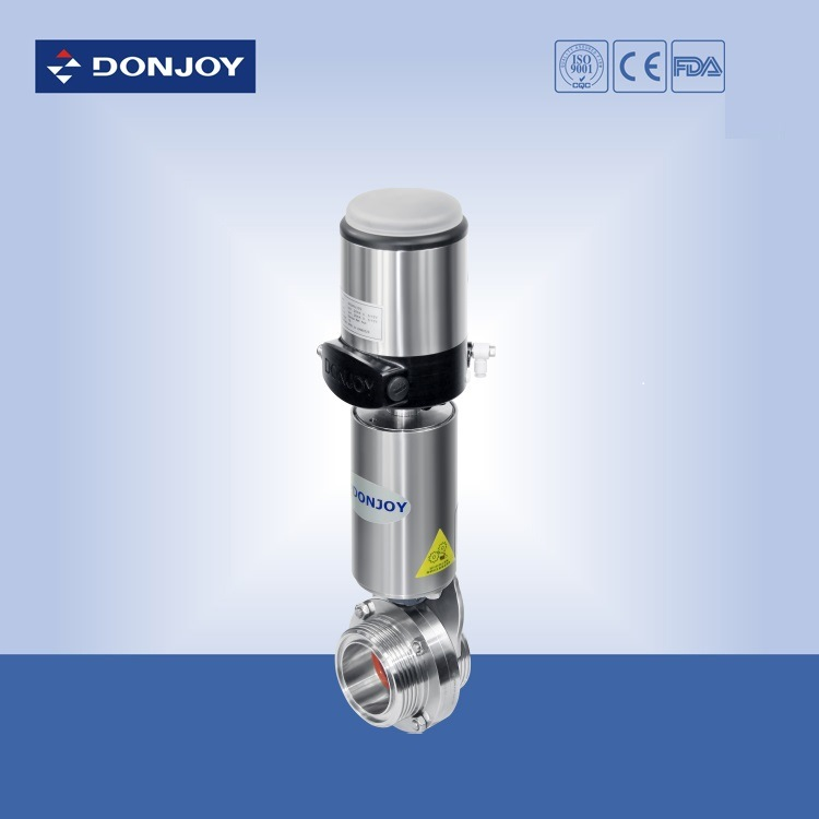 Threaded Ends Pneumatic Butterfly Valve with C-Top Controller