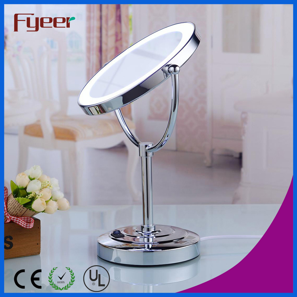 Fyeer Ultra Thin Double Side Cosmetic Table Mirror with LED Light