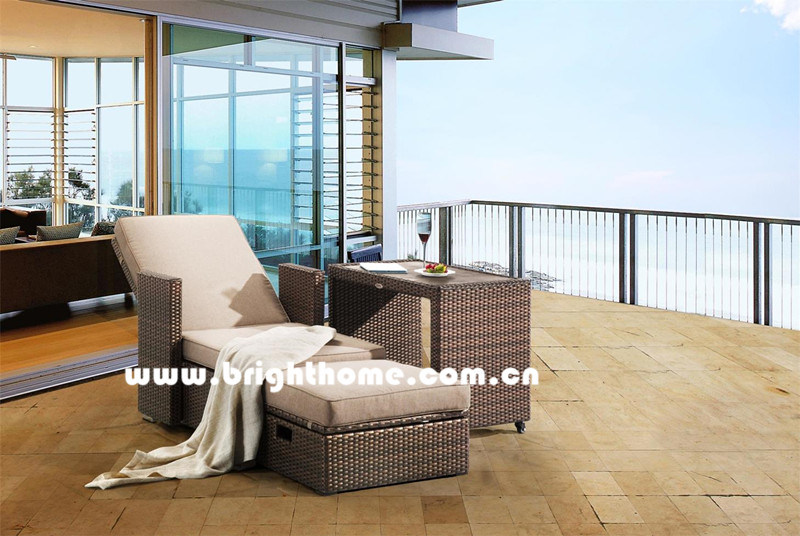 Combined PE Rattan Wicker Outdoor Lounge Bp-8029