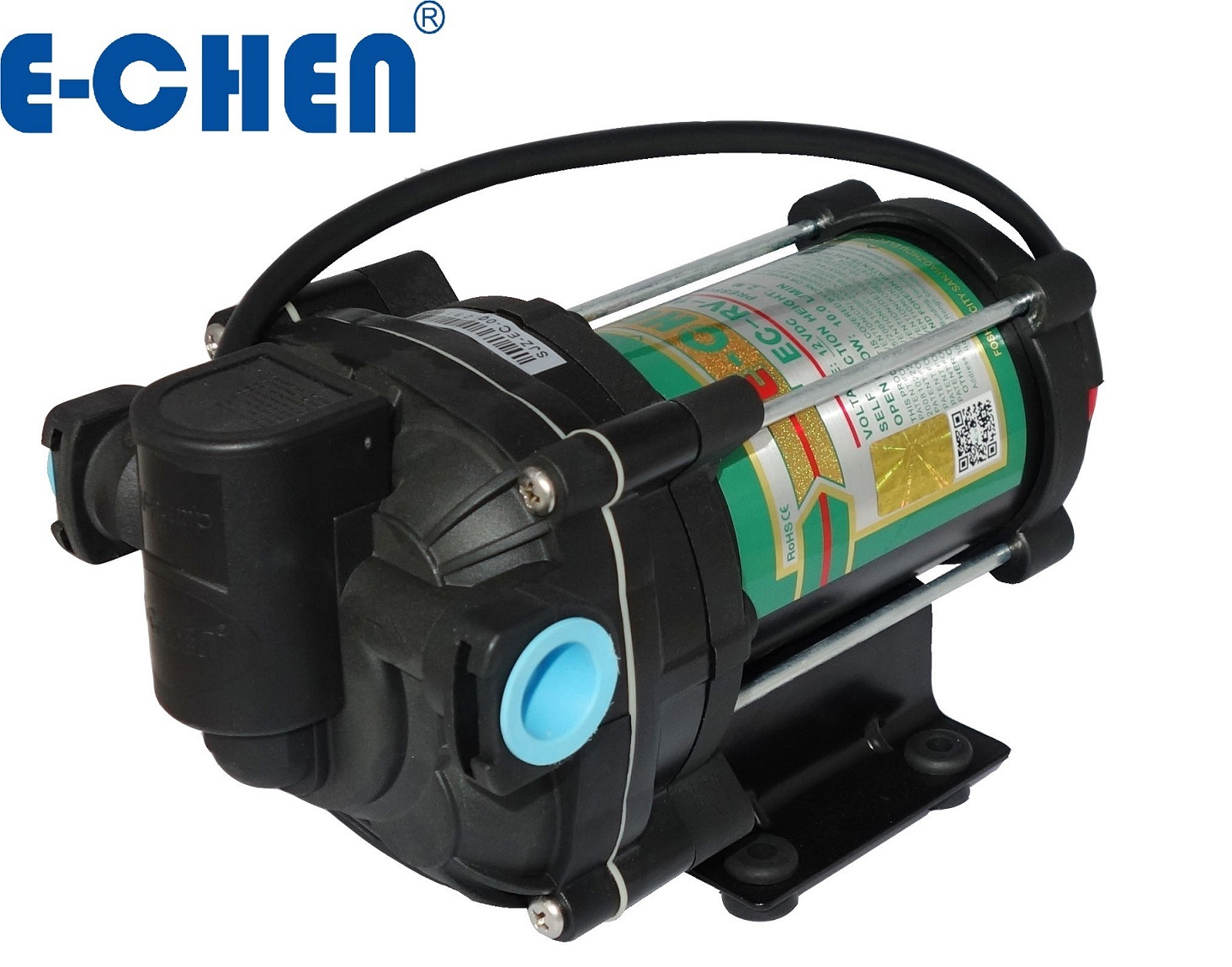 E-Chen RV Series 12L/M Diaphragm Delivery Transfer Water Pump, Self-Priming