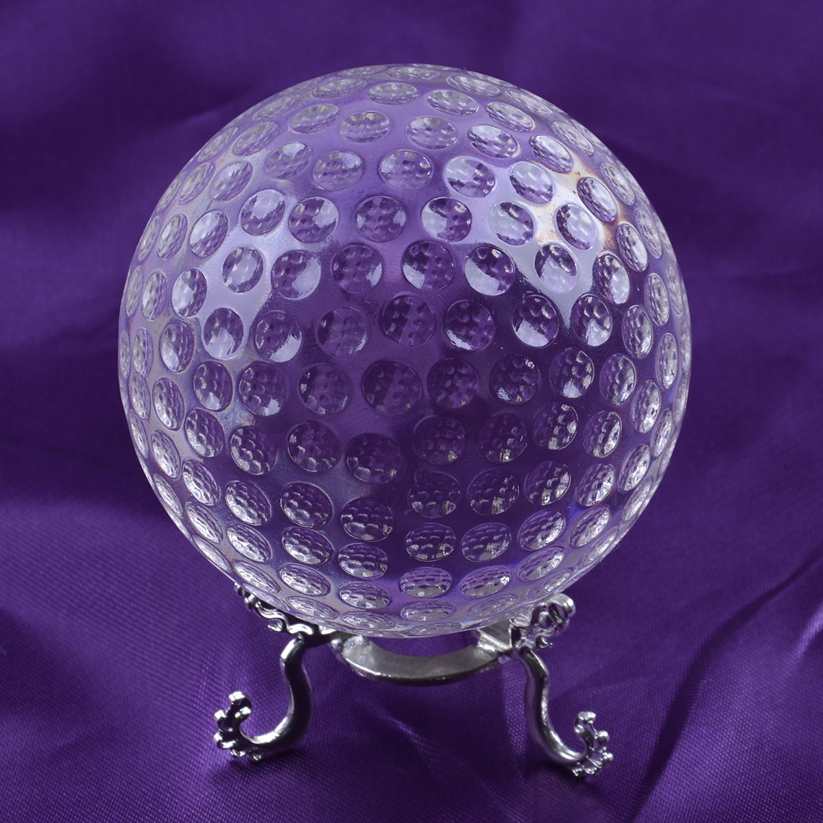 Crystal Golf Ball with Stand for Souvenir Gift