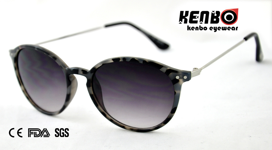 Fashion Sunglasses with Metal Temple for Accessory Kp50426