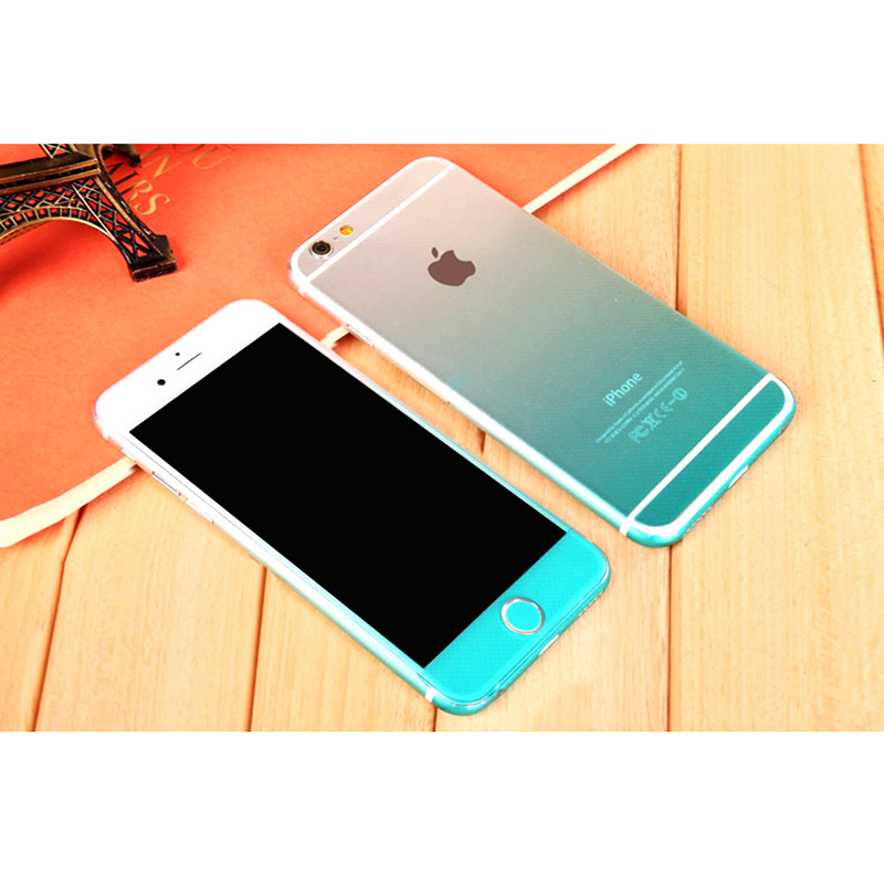 Fading Color Litchi Pattern Anti- Dust Protective Film for iPhone