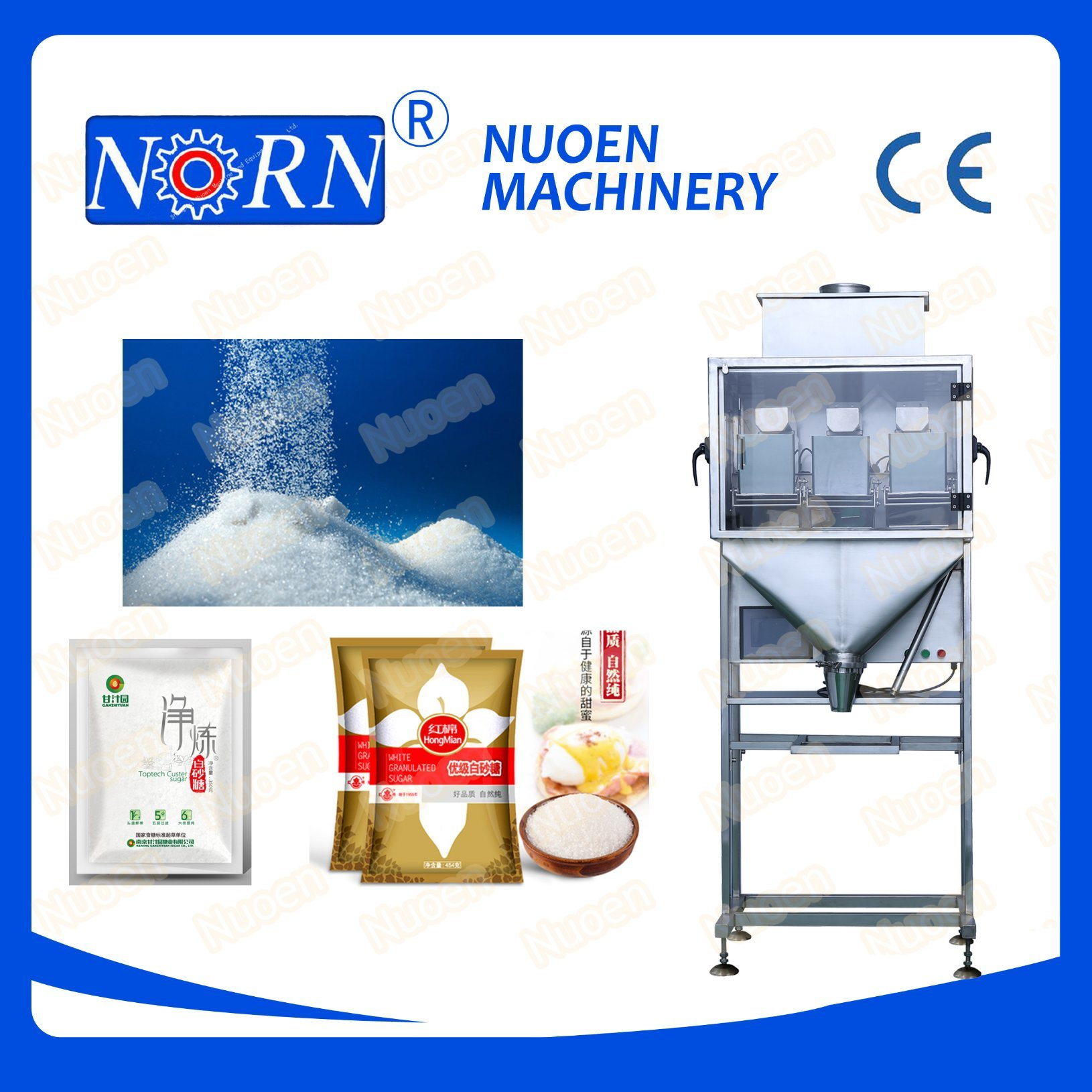 Nuoen Three Stations Metering Weighing Machine for Particles/Powder