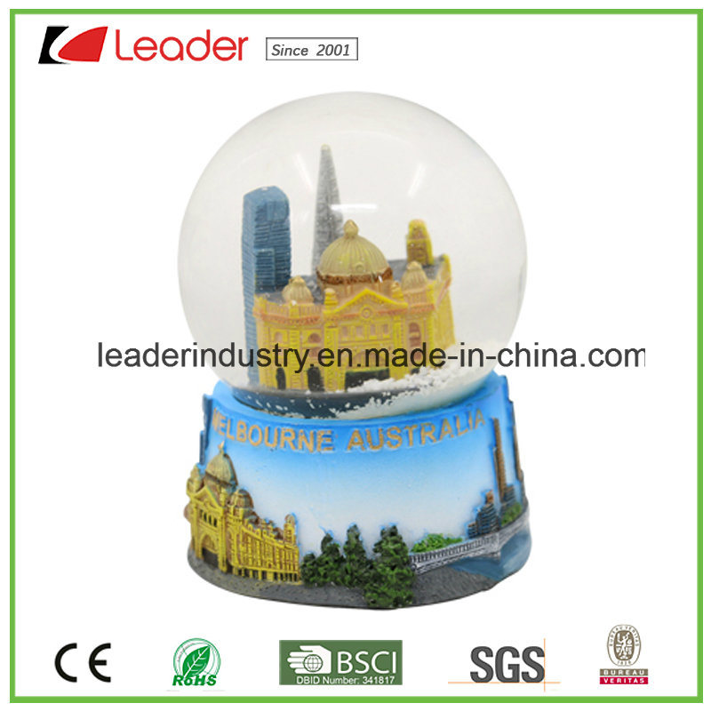 Water Globe Dome Polyresin Building Snowglobe for Home Decoration
