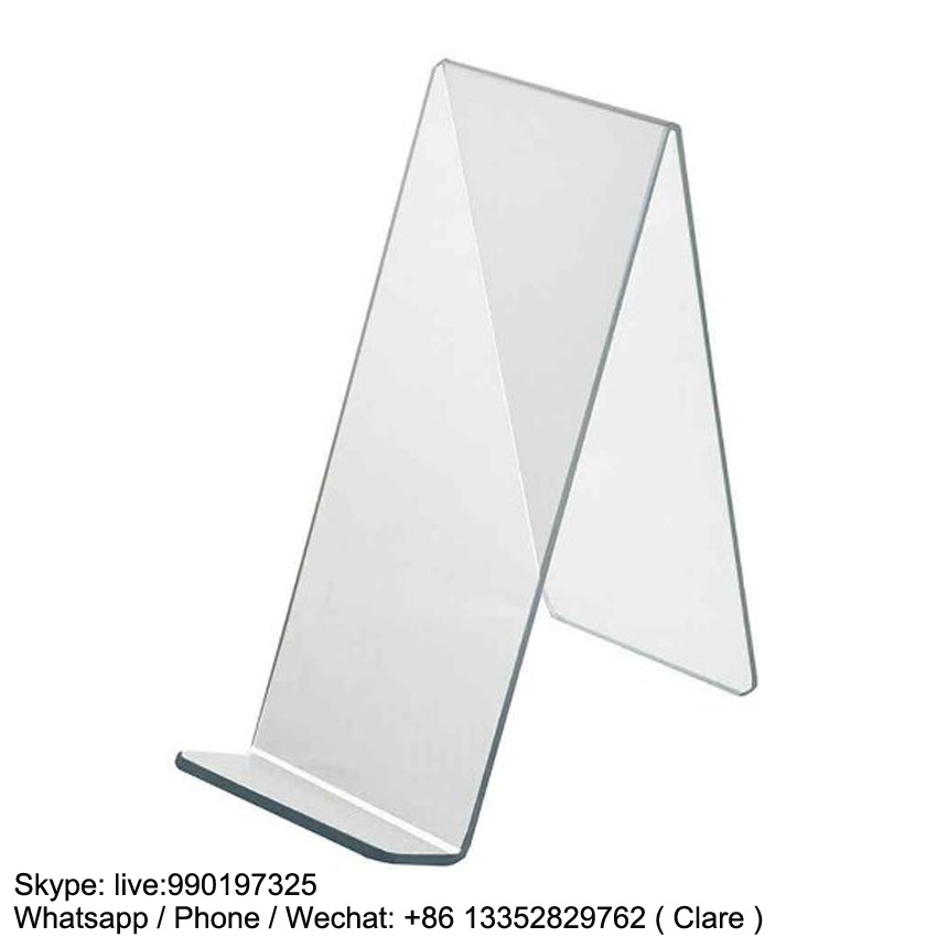 Clear Acrylic Book and Magazine Display Rack for Store