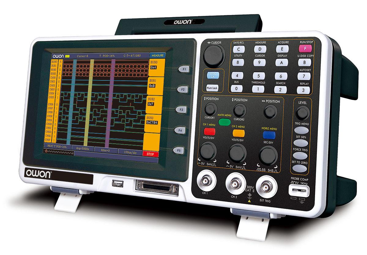 OWON 60MHz 1GS/s Mixed Logic Analyzer Oscilloscope (MSO7062TD)