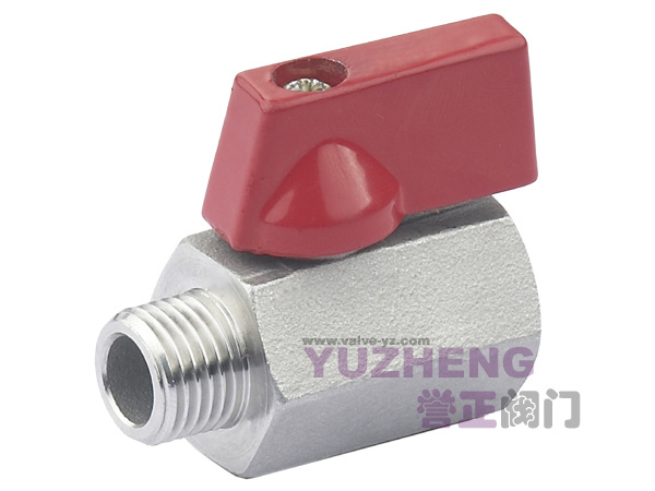 1PC Stainless Steel M/F Thread Mini Ball Valve