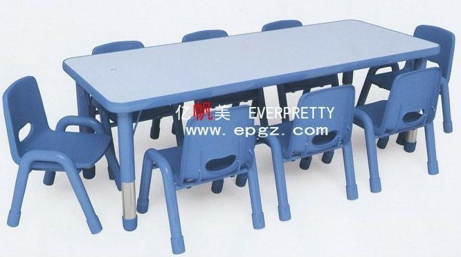 Children Furniture for Children Wooden Desk and Plastic Chair