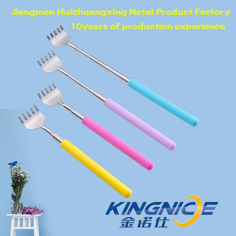 with Plastic Handle Coloured Stainless Steel Telescopic Back Scratcher